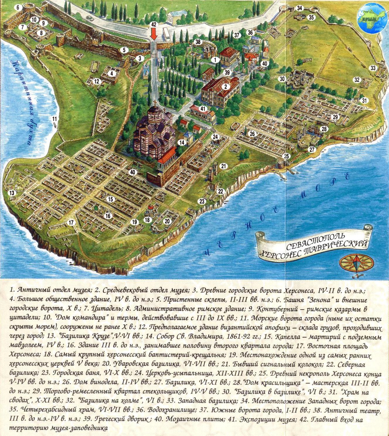 карта Херсонеса Таврического