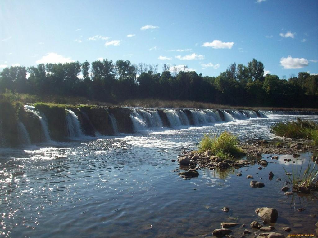 Самый широкий водопад Европы - латвийский Вентас Румба