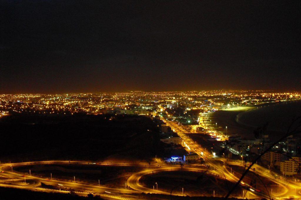 Ночной Агадир - прекрасное зрелище