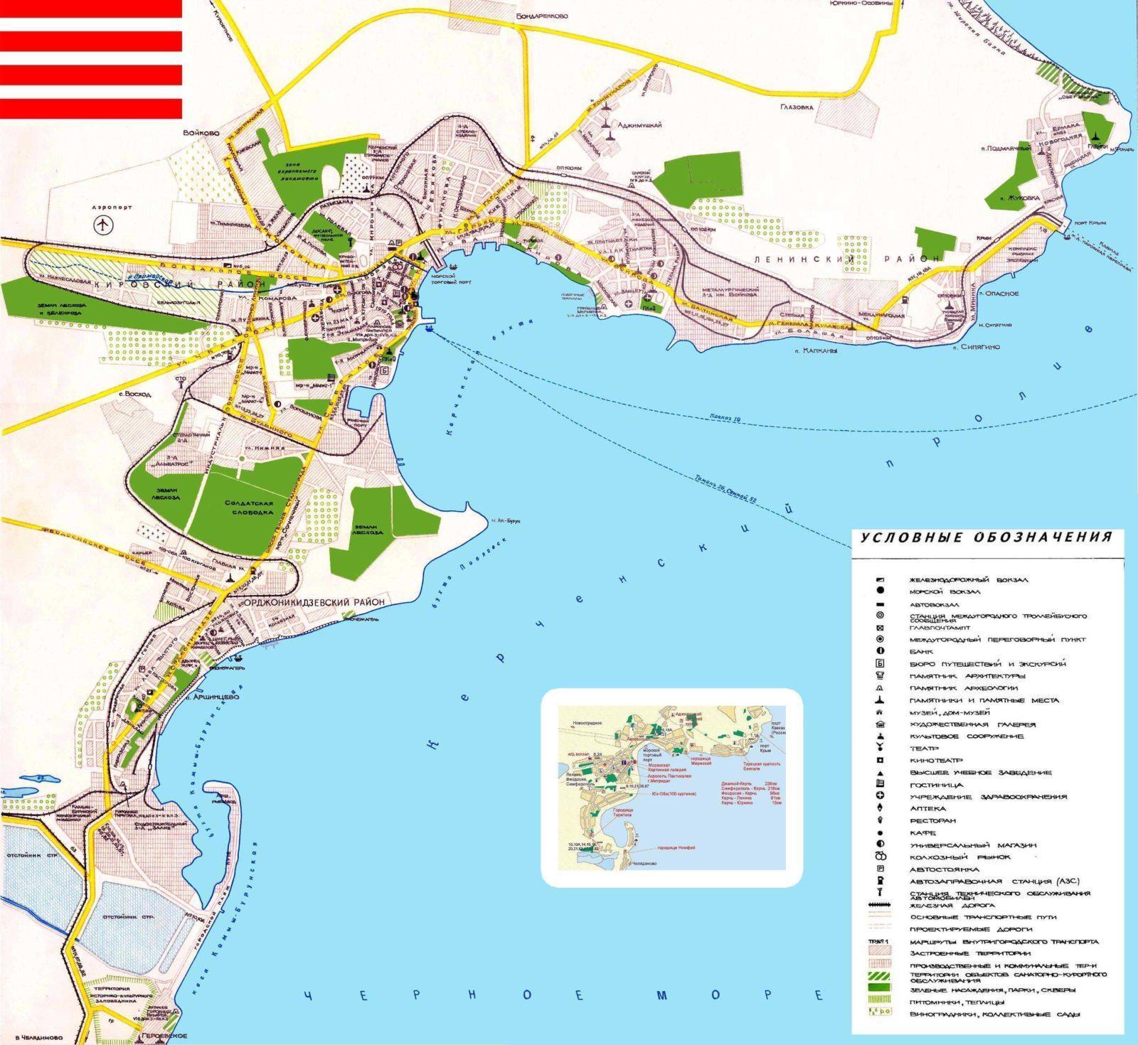 Достопримечательности на карте Керчи